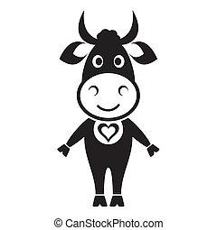 χαριτωμένος , αγελάδα