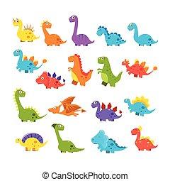 χαριτωμένος , γελοιογραφία , δεινόσαυροι , θέτω