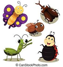 χαριτωμένος , εικονογράφος , έντομο , γελοιογραφία
