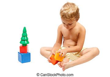 χαριτωμένος , μικρός , γραφικός , αγόρι , άθυρμα , παίξιμο