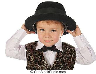 χαριτωμένος , μικρός , καπέλο αγόρι