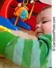 χαριτωμένος , μικρό αγόρι , άθυρμα , μωρό , παίξιμο
