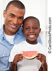 χαριτωμένος , πατέραs , κατάλληλος για να φαγωθεί ωμός , με , δικός του , chil