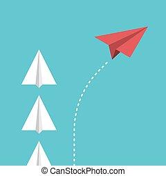 χαρτί , αλλαγή , κατεύθυνση , αεροπλάνο