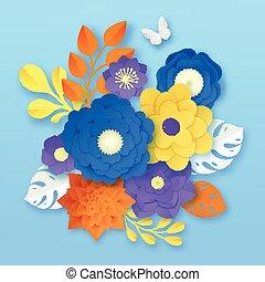 χαρτί , αφαιρώ , λουλούδια , έκθεση , φόρμα