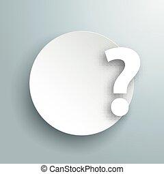 χαρτί , κύκλοs , ερώτηση , γκρί