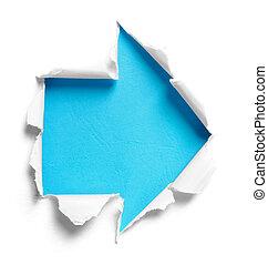 χαρτί , σχήμα , μετοχή του tear , άσπρο , βέλος