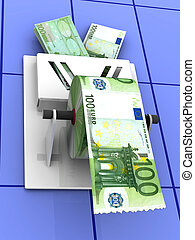 χαρτί του καμπινέτ , euro