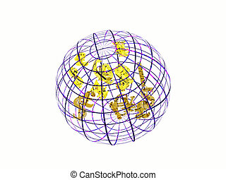 χαρτονομίσματα , χάρτηs , symbols., κόσμοs
