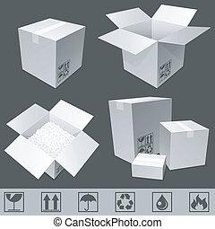 χαρτόνι , boxes.