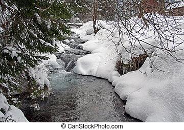 χειμερινός ποταμός
