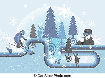 χειμώναs , αστείο