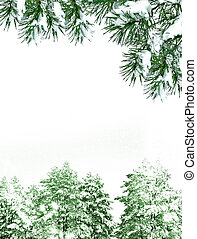 χειμώναs , γραφική εξοχική έκταση. , φόντο. , χιόνι