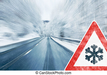 χειμώναs , οδήγηση , προσοχή , -