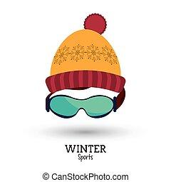 χειμώναs , σκούφοs , κίτρινο , έπλεξα , αγώνισμα , κόκκινο , γυαλιά