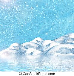 χειμώναs , φόντο
