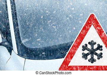 χειμώναs , - , χιόνι , προσοχή , οδήγηση