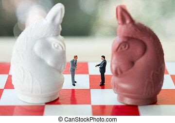 χειραψία , επιτυχία , επιχείρηση , πίνακας σκακιού , μινιατούρα , επιχειρηματίας , people: