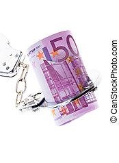 χειροπέδες , χαρτονόμισμα , euro