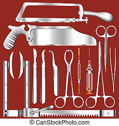 χειρουργικός , μικροβιοφορέας , εργαλεία