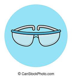 χημεία , γέμισα , safety., γυαλιά , σχεδιάζω , μεγάλα ματογυαλιά , εργαστήριο , μικροβιοφορέας , science., εικόνα