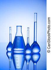 χημικός , σωλήνωση , σε , κλίση , φόντο