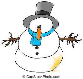χιονάνθρωπος , κίτρινο
