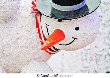 χιονάνθρωπος , καρότο αιχμή , άγαλμα