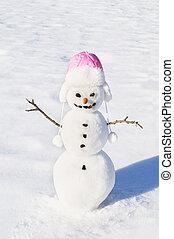 χιονάνθρωπος , καρότο αιχμή