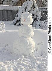 χιονάνθρωπος , μεγάλος , from., καρότο αιχμή