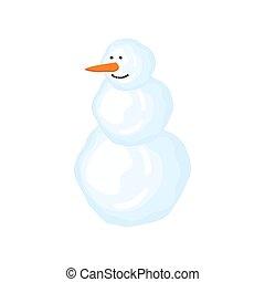 χιονάνθρωπος , isolated., εικόνα , μικροβιοφορέας , έτος , καινούργιος , xριστούγεννα