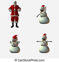 χιονάνθρωπος , santa