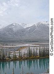 χιόνι , και , χειμερινός γραφική εξοχική έκταση