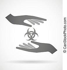 χορήγηση , biohazard , σήμα , ανάμιξη , προασπίζω , ή