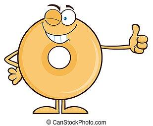 χορήγηση , donut , αναβοσβήνω , αντίστοιχος δάκτυλος ζώου ανακριτού