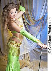 χορευτής , καλάμι , ακάθιστος , κοιλιά , ελκυστικός προς το αντίθετον φύλον