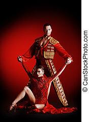 χορευτής , κόκκινο