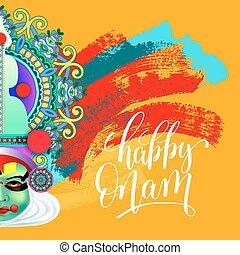 χορευτής , χαιρετισμός , ζεσεεδ , onam, ινδός , kathakali, ...