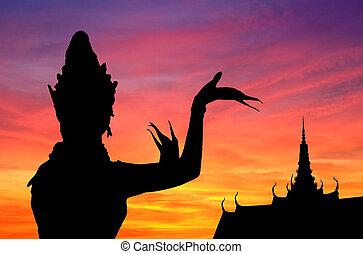 χορεύω , ηλιοβασίλεμα , thai