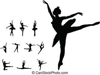 χορεύω , κορίτσι , θέτω , μπαλέτο