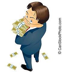χρήματα , αγγείο , επιχειρηματίας