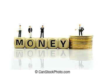 χρήματα , ανάπτυξη , θημωνιά , μινιατούρα , κέρματα , οικονομικός , ξύλινος , επιχειρηματίας , κορμός , concept., people:, επιχείρηση