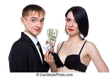 χρήματα , γυναίκα , νέοs άντραs