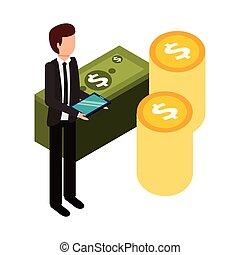 χρήματα , θημωνιά , επιχειρηματίας