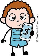 χρήματα , κελί , παιδί , τηλέφωνο , γελοιογραφία , εκδήλωση