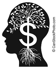 χρήματα , κεφάλι , δέντρο , ανθρώπινος