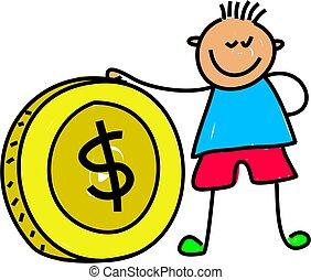 χρήματα , παιδί