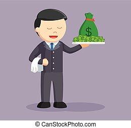 χρήματα , πιατέλα , επιχειρηματίας