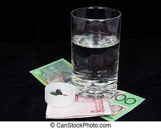 χρήματα , & , φάρμακο