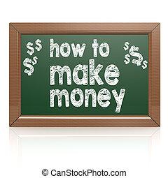 χρήματα , φτιάχνω , chalkboard , πόσο